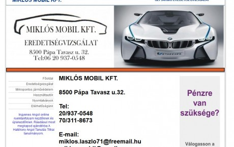 Miklós Mobil Kft